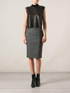 Alexander Mcqueen Pinstriped Pencil Skirt - Luisa World - Farfetch.com