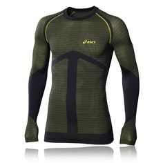 Asics seamless mens #green long sleeve breathable gym #sports #running shirt top,  View more on the LINK: 	http://www.zeppy.io/product/gb/2/282289220898/
