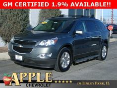 2011 Chevrolet Traverse LT 1 LT - Certified - Stk # 51334 - $17,770 - http://www.applechevy.com/VehicleDetails/certified-2011-Chevrolet-Traverse-LT_w%2F1LT-Tinley_Park-IL/2696584003