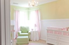I like the neutral paint with the pink accents - especially the light