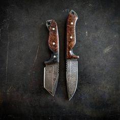 VORN Rakkr and SLÁ  #knives #customknives #knifefanatics #knifeporn #edcblade #camping #campknife #huntingknife #carbonfiber #burl #bushcraft #bushcraftknife #survivalknife #handmade #2a #edc247 #edcgear