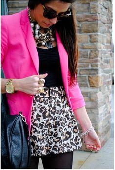 cheetah print and blazers <3
