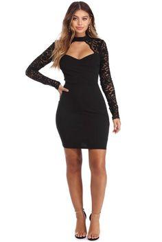 Ellis Black Lace Cocktail Dress | WindsorCloud