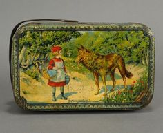 """French Little Red Riding Hood Lunch Box - """"Oh, I wonder what mother packed in my lunchbox today?"""""""