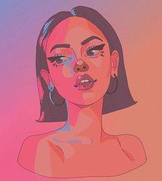 Girl Drawing Sketches, Cool Art Drawings, Arte Grunge, Cartoon Art Styles, Digital Art Girl, Hippie Art, Anime Art Girl, Art Sketchbook, Aesthetic Art
