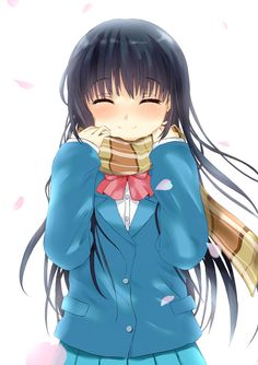 Sawako smiled the whole way home, wrapping her tiny hands around her boyfriend's- her boyfriend's! scarf- and giving it a loving squeeze. . .