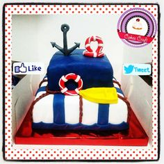 Sailor Cake / CID - 489 #barranquilla #cakestagram #uniautonoma #uniatlantico #uninorte #unilibre #unimetro  #hbd #cumpleaños #CakescraftKeados #cakeboss #cupcakewar #cakescraftbq #airsoft #halamadrid #jamesrodriguez10 #collagecostacaribe #enchufetv #yoperdono #golcaracol #seleccioncolombia #marzo #tbt #sailing #jueves #sailor #thursday #hollyweekarrived #hollyweek #rusia2018 #vamoscolombia