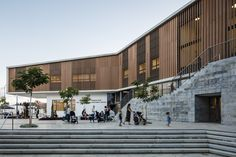 Completed in 2016 in Rehovot, Israel. Images by Amit Geron . Creating a new urban plaza, the project includes studios for dance, music, sports and a library. Completed in 2016. The community center includes a...