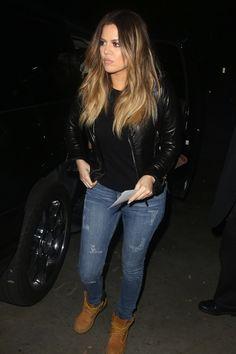 Khloe Kardashian Street Style.