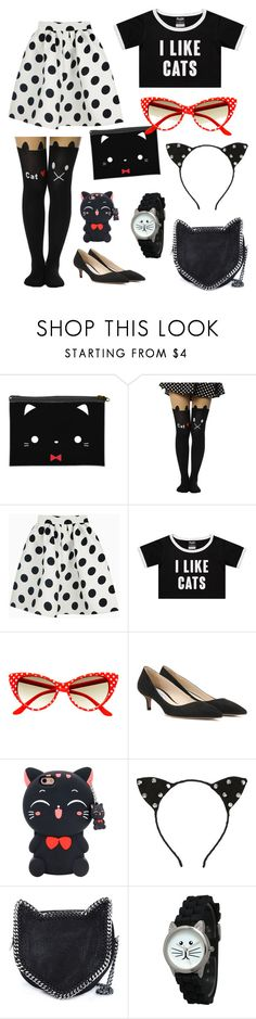 """""""Cat Lady 101"""" by im-more-gay-than-you-are ❤ liked on Polyvore featuring Prada, STELLA McCARTNEY and Olivia Pratt"""