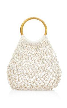 Blake Crocheted Cotton Tote Bag by KAYU Now Available on Moda Operandi Handmade Handbags, Handmade Bags, Macrame Purse, Net Bag, Latest Fashion Design, Fab Shoes, Crochet Purses, Knitted Bags, Cotton Tote Bags