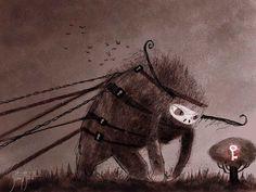 juanbjuan children illustration: Key monster