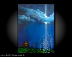 Miracles Happen Everywhere - Canvas Original Matted Hand Embellished Painting-Print by Fae Factory Poetry Artist Dr Franky Dolan (Wall Art)