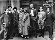 Uncredited and Undated Photograph Writers and Intellectuals in the Early Soviet Union, Including Boris Pasternak (Second from Left), Lili Brik (Fifth from Left) and Vladimir Mayakovsky (Sixth from. Russian Poets, Russian Art, Harlem Renaissance, Aragon, Lili Brik, Vladimir Mayakovsky, Dr Zhivago, Doctor Zhivago, Russian Avant Garde