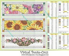 Cross-stitch Floral Bookmarks...    Gallery.ru / Фото #29 - MARCAPAGINAS - inesppf