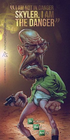 Breaking Bad was the best TV series of all time. Learn about Breaking Bad and get information on the Breaking Bad cast here. by Anthony Geoffroy Walter White, Best Tv Shows, Favorite Tv Shows, Caricatures, Breking Bad, Breaking Bad Series, Breaking Bad Funny, Comic Style, Bad Art