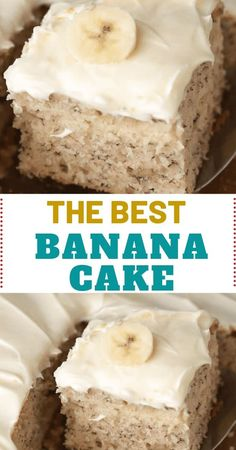 BEST BANANA CAKE Preparation time: 20 minutes Bake time: 1 hour 15 minutes Servings: 15 Ingredients: 1 Cup mashed ripened bananas (overripe the best) 2 Tbs lemon juice , divided 1 Cups milk 3 Cups No Bake Desserts, Just Desserts, Dessert Recipes, Food Cakes, Cupcake Cakes, Cupcakes, Yummy Treats, Sweet Treats, Cake Preparation