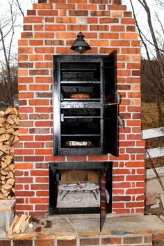 Brick Bbq Pit Plans With Pictures Backyard Sitting Areas, Backyard Swings, Backyard Patio, Outdoor Smoker, Outdoor Oven, Outdoor Cooking, Outdoor Kitchen Patio, Outdoor Rooms, Brick Bbq