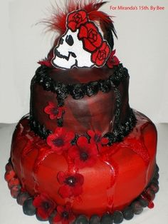 Gothic Birthday Cake By Beevil44 on CakeCentral.com