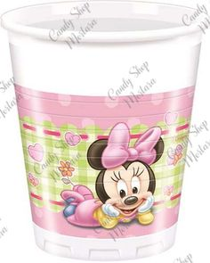 Baby Minnie busta 8 pz. Baby Mickey, Baby Shower, Cookies Et Biscuits, Pint Glass, Travel Mug, Disney, Mousse, Minnie Mouse, Tableware