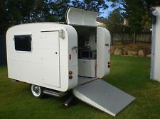 Vintage-style caravan built to transport the owners scooters. $5000 on eBay