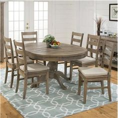 Furniture Of America Bethannie Cottage Style Tone Oval Dining - Oval farmhouse table and chairs