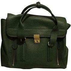 Pre-owned 3.1 Phillip Lim Jade Pashli Medium Jade Green Satchel ($572) ❤ liked on Polyvore featuring bags, handbags, jade green, 3.1 phillip lim satchel, satchel style purse, satchel bag, green handbag and green purse