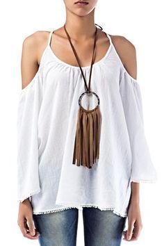 Blusa Denny Rose con collar étnico,oversize con manga francesa y escotada por detrás. Composición:100% algodón BLUSA DENNY ROSE de Denny Rose @   http://www.miinto.es/p-10451-blusa-denny-rose