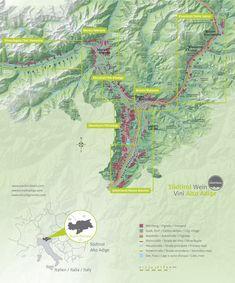 Alto Adige Wine Map