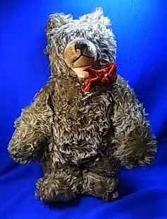 Vintage German Stuffed Animal Steiff or Hermann Teddy Zotty Bear