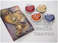 Mixed Media Canvas Tutorial for Beginners ♡ Maremi's Small Art ♡