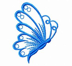Free Embroidery Designs Download   This is a quick to stitch 1-color, smallish (1.8x2.5) butterfly I made ...