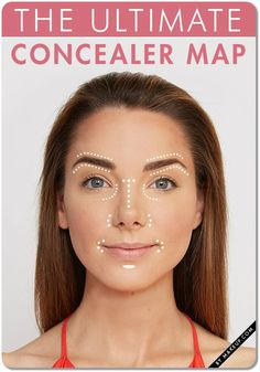 Concealer Makeup Map Tutorial. How to use concealer properly.