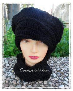 Parure Cappello  scaldacollo/fascia a nastro di di Cosmosicula