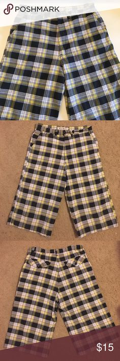 Seven Souls Boys Cargo Shorts Made up of 55% cotton and 45% polyester, this gently used shorts are in excellent condition. The plaid design and the four full pockets make this shorts a must have for the summer. seven souls Bottoms Shorts
