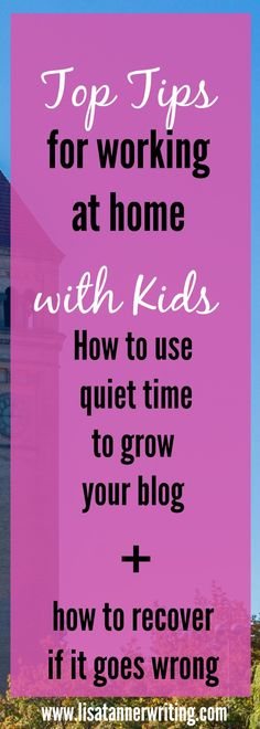 You can really grow your blog during quiet time. Here's how to use it, what your kids can do, and tips for recovering if quiet time doesn't go as planned. #momblogger #quiettime
