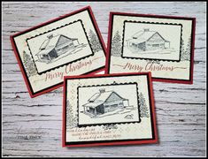 Simple Christmas, Christmas Cards, Merry Christmas, Stampin Up Cards, December, Cabin, Peace, Christmas E Cards, Merry Little Christmas
