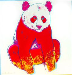"Andy Warhol : ""Giant Panda"" from the Endangered Species Portfolio available through ROBIN RILE 