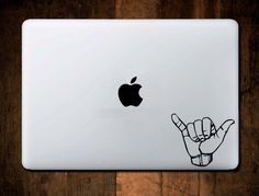 Hang Loose Decal, Shaka Decal, Laptop Decal, Macbook Decal by NebraskaVinyl on Etsy