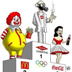 Further Winner of the Olympic 2012 in London ? The most `healthy` food corporations are the supporter & supplier of OLYMPICS 2012 - London, Fast Food/GMO etc. What do you think ? Weird World, Mcdonalds, Word Art, Ronald Mcdonald, At Least, Poisons, Olympics, Nutritional Supplements, Pink Slime