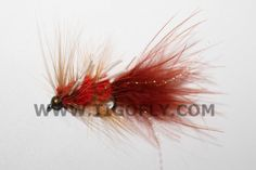 Free Shipping!! 20 pcs Red Body Legs Streamers Salmon Fly Trout Fly Fishing Flies Lures