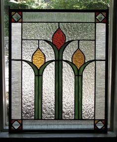 Arts & Crafts stained glass!