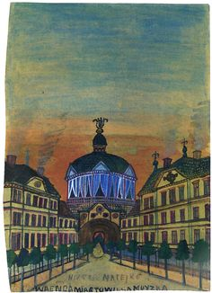 Nikifor Krynicki - Altana koncertowa Grandma Moses, Henri Rousseau, Naive Art, Outsider Art, Paintings, Image, Color, Polish, Design