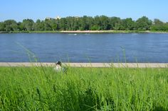 The Vistula River, Warsaw, Poland.
