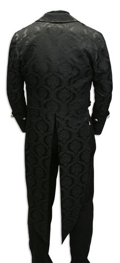 Regency Brocade Tailcoat -  Black [001906]