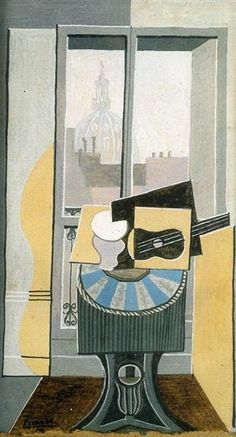 Still life in front of a Window overlooking the Eglise St. Augustin 1919 Pablo Picasso
