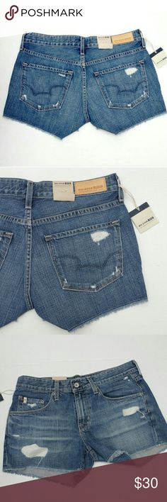 "New Big Star Boyfriend Shorts Distressed Brand new with tags.? Originally $89.? Big Star Joey Boyfriend shorts.  Size 26.? Measure:? 32"" around the waist? 8.5"" rise Big Star Shorts Jean Shorts"