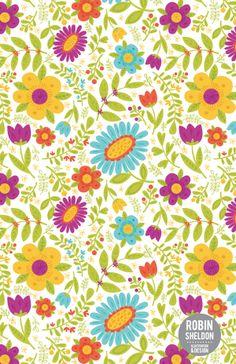 Spring Floral Pattern by Robin Sheldon, via Behance