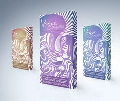 A beautiful cigarette packaging concept which feels heavily influenced by the flowing form of cigarette smoke.