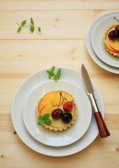 White chocolate & Cherry jam tartlets / my dear recipes